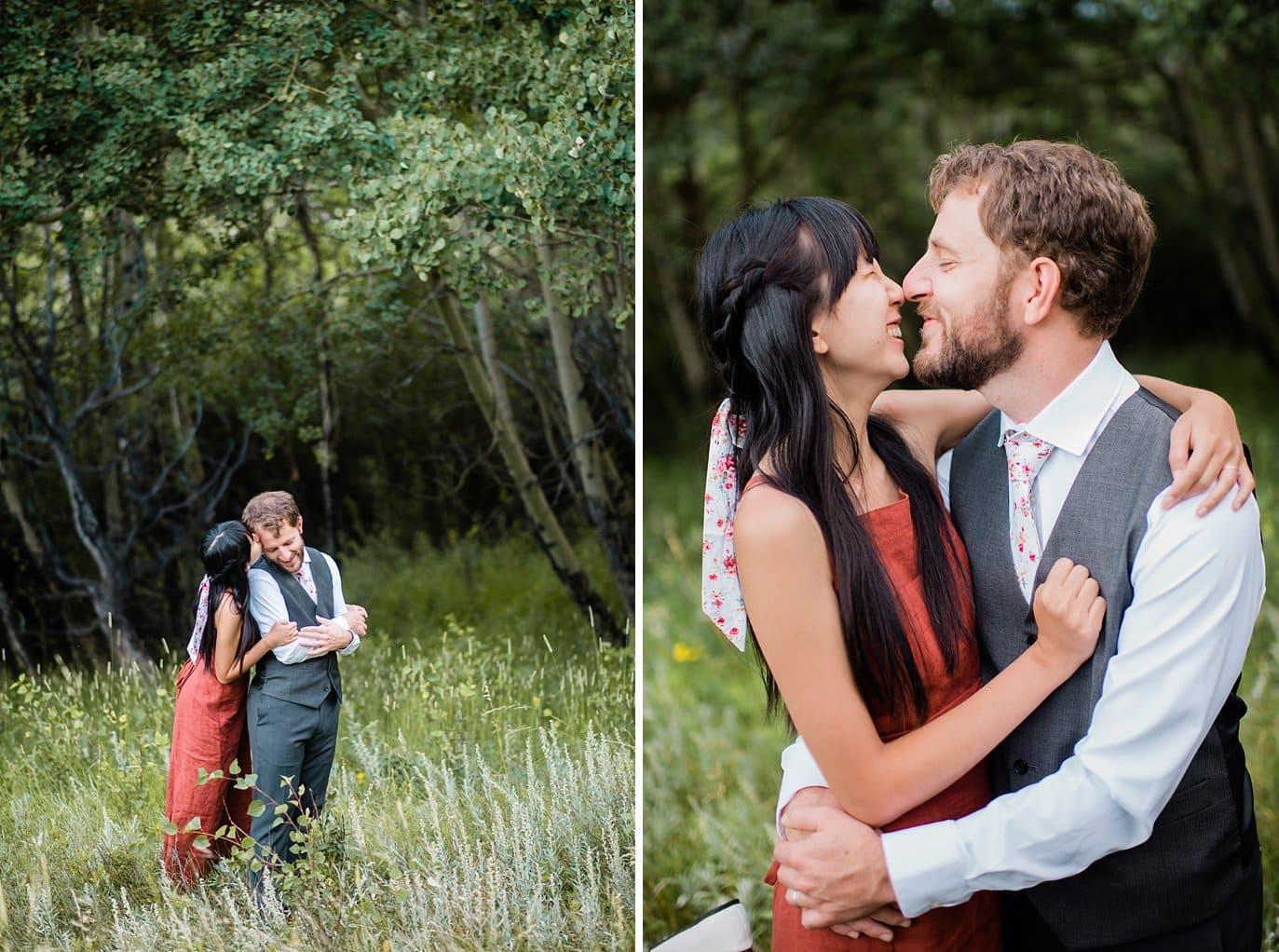 Colorado Estes Park wedding photo