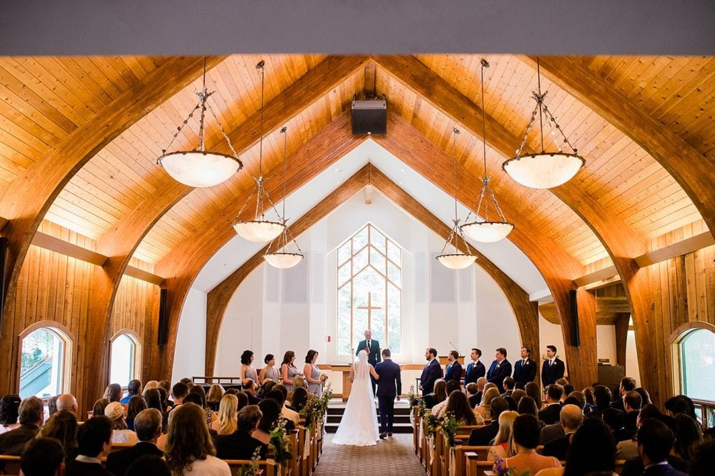 Vail Interfaith Chapel wedding photo