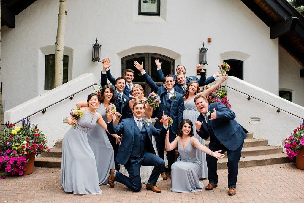Bridal party at Vail Interfaith Chapel photo
