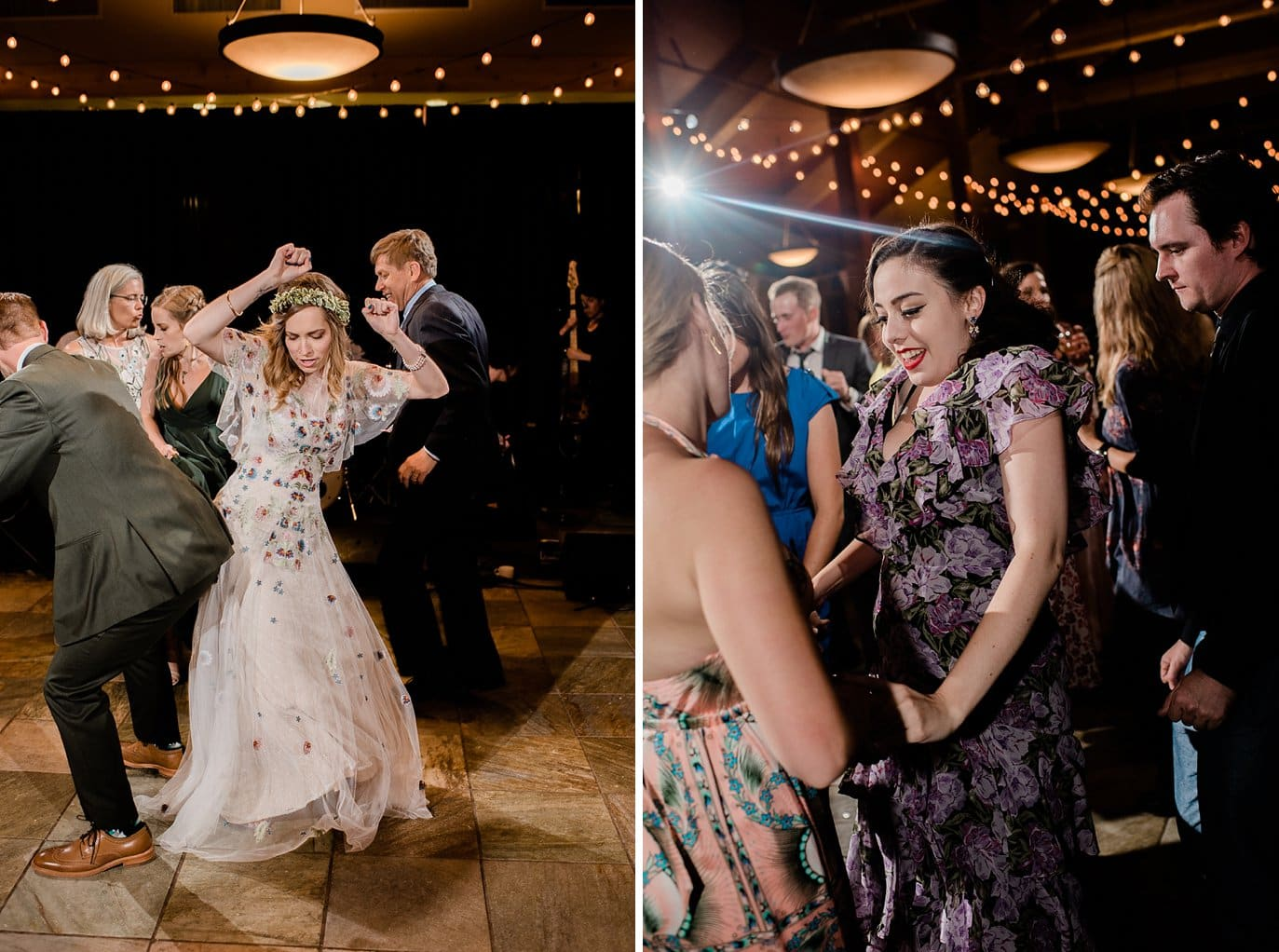 dance party at Black Mountain lodge wedding by Keystone wedding photographer Jennie Crate Photographer
