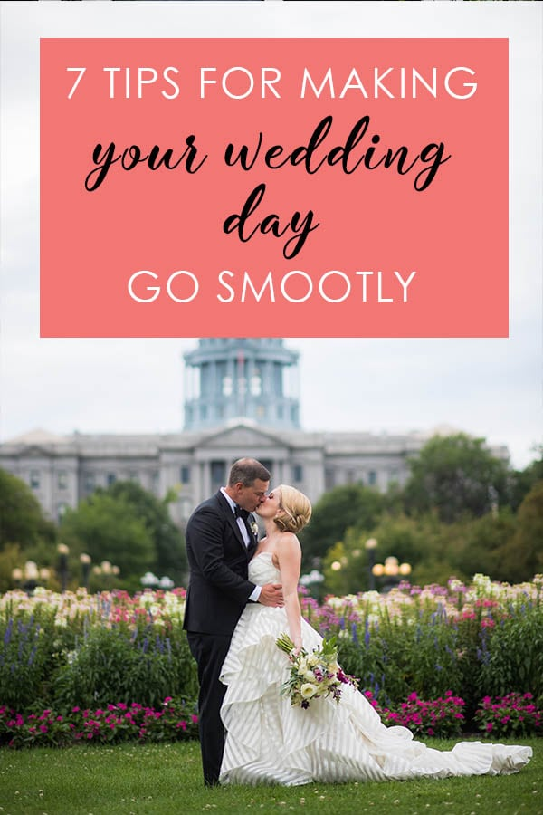 7 Tips for Making Your Wedding Day Go Smootly