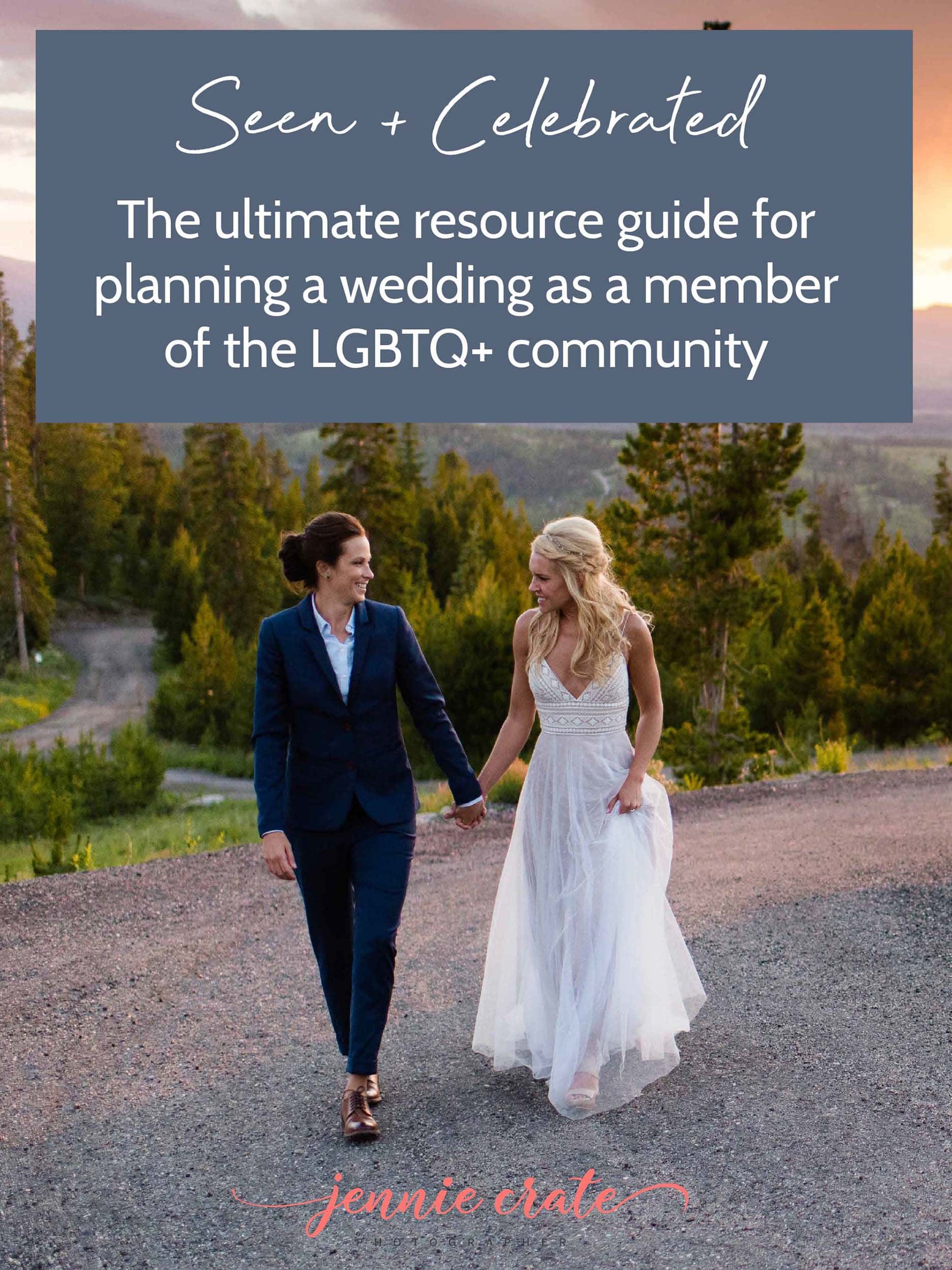 LGBT Wedding Guide by Colorado Gay Wedding Photographer Jennie Crate photographer