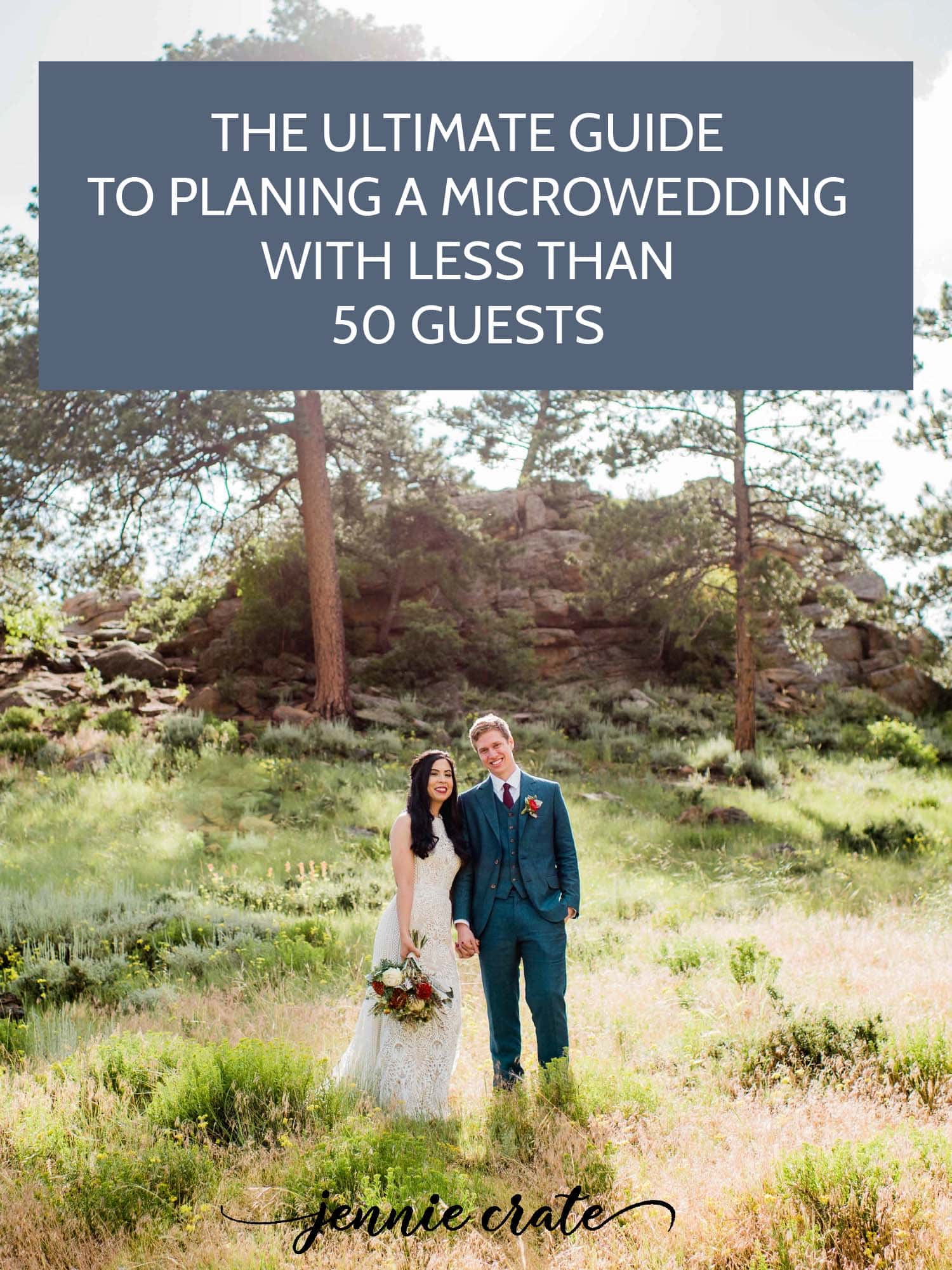 Guide to planning a Colorado Microwedding by Colorado Microwedding Photographer, Jennie Crate photogarpher