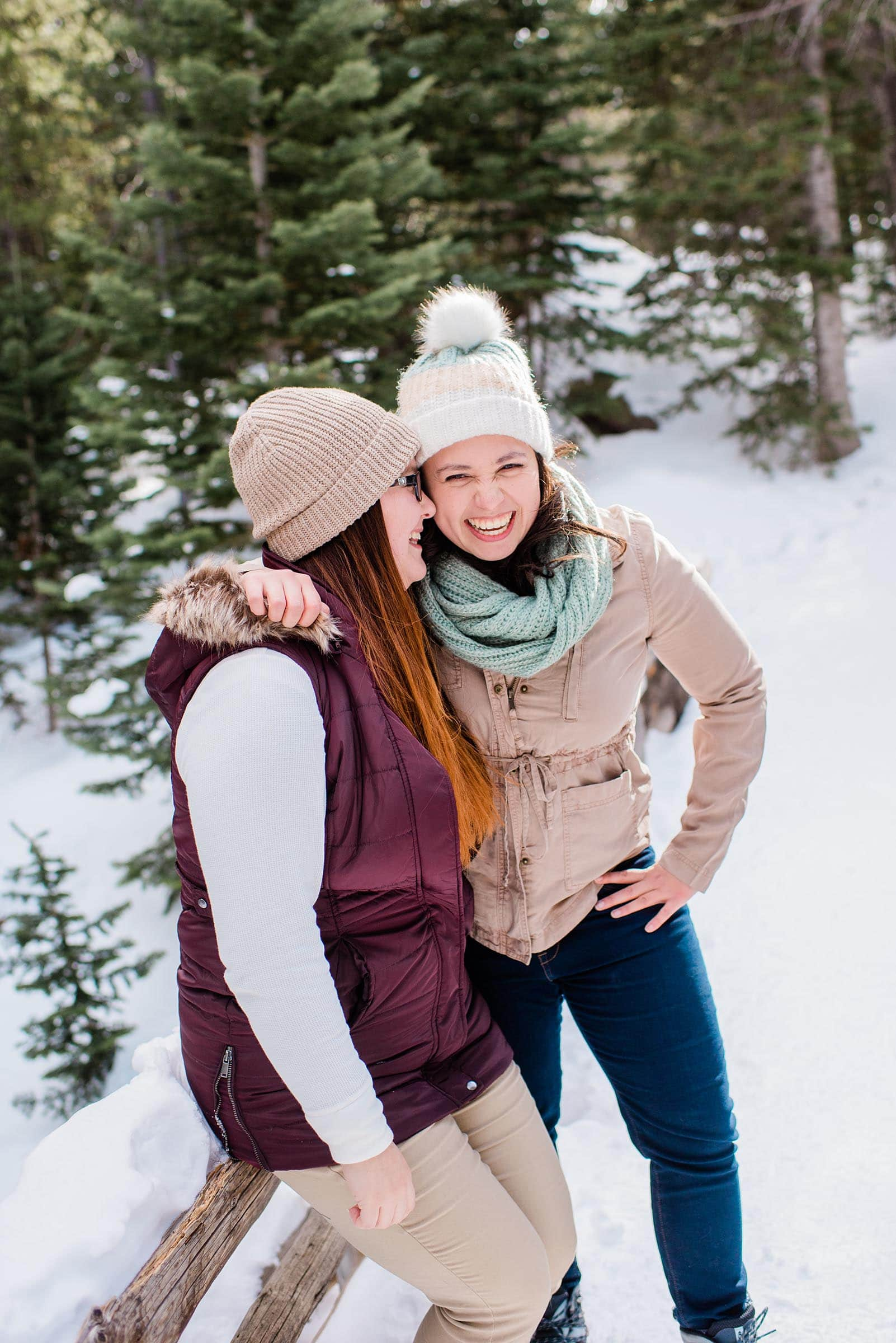 Rocky Mountain National Park Winter Engagement by Colorado Engagement Photographer Jennie Crate Photographer