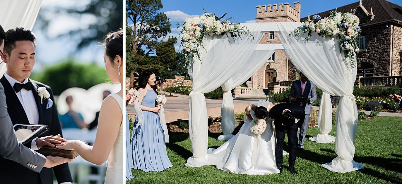 traditional korean ceremony at Highlands Ranch Mansion wedding by Boulder wedding photographer Jennie Crate