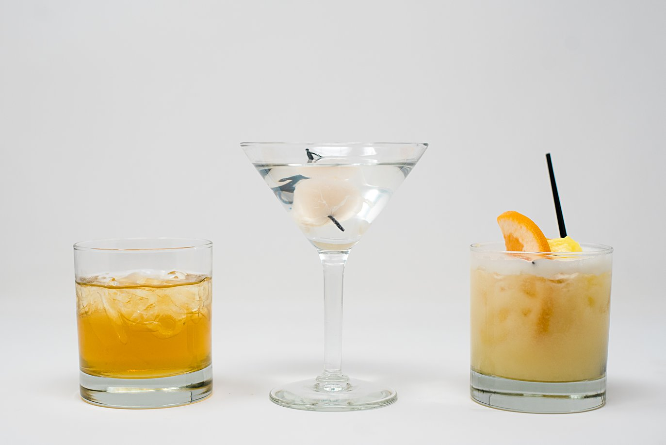 curated cocktails for a plated dinner at Walker Fine Art Gallery Wedding by Boulder Wedding Photographer Jennie Crate
