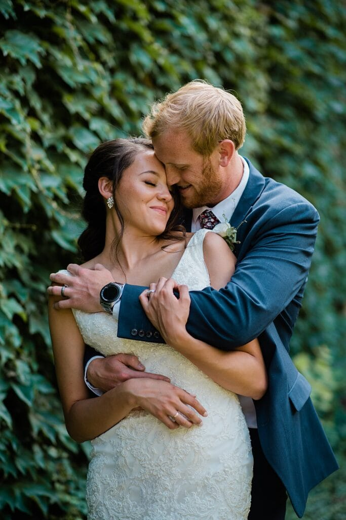 romantic couples photos by ivy wall at Walker Fine Art Gallery Wedding by Fort Collins Wedding Photographer Jennie Crate