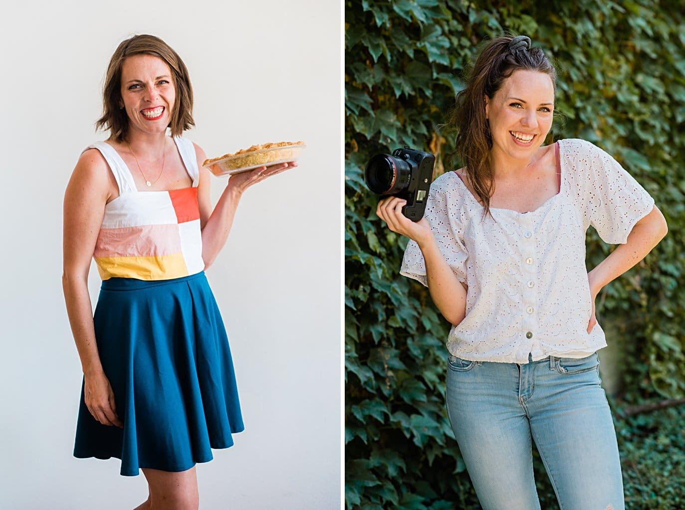 headshots of Jill from the Treatery and Caitlyn from Cait Swithers photography