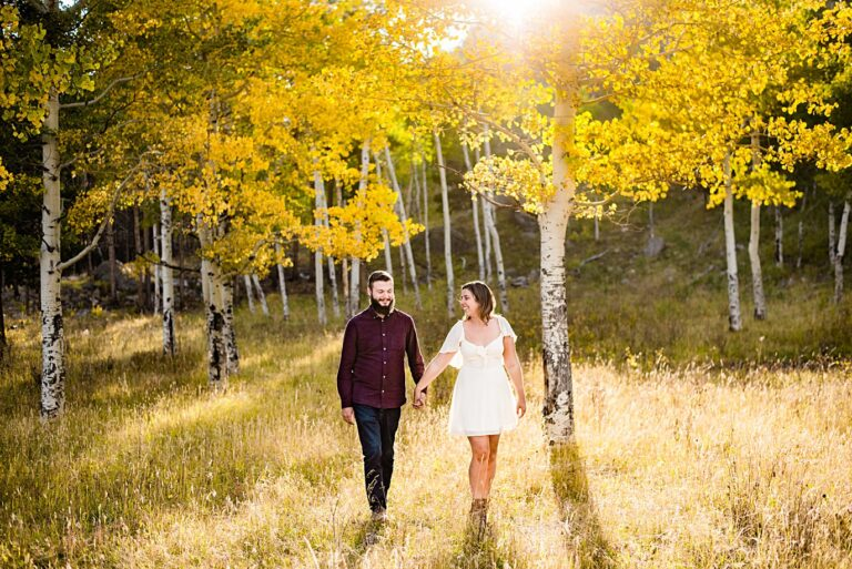 Fall Engagement in the Colorado Aspens   Meri and Michael