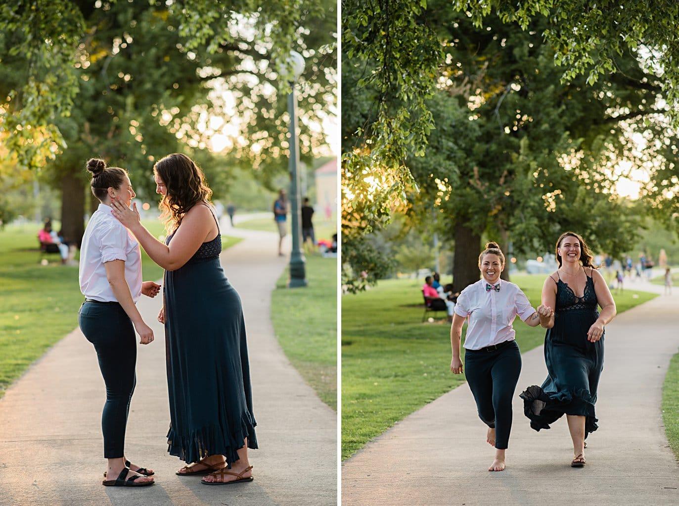 LGBT proposal in City Park Denver by Denver proposal photographer Jennie Crate