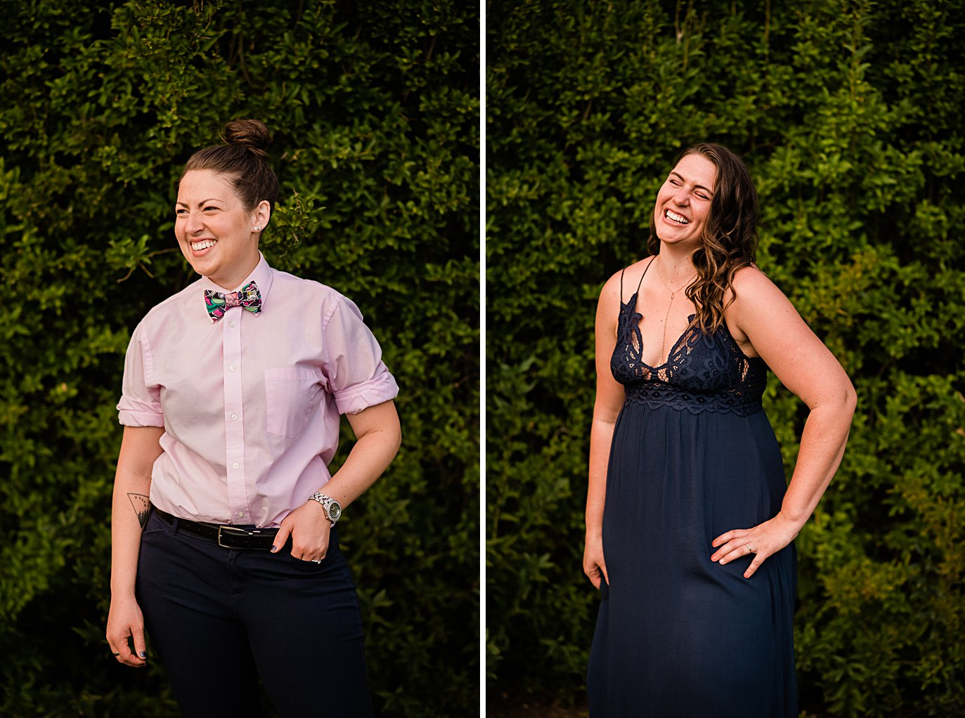 excellent queer fashion style in City Park Denver by Denver proposal photographer Jennie Crate