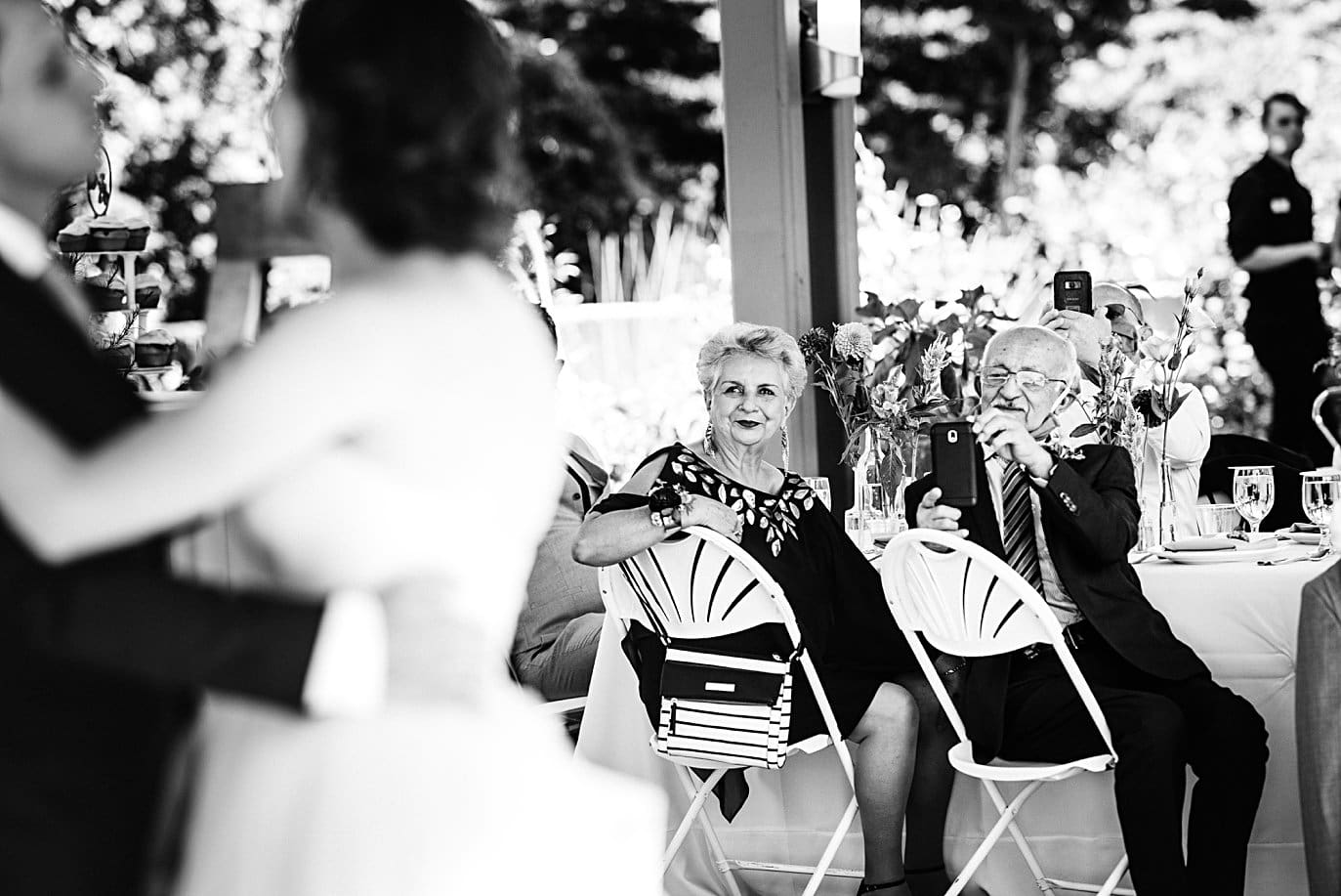 first dance in annuals pavilion at Denver Botanic Gardens microwedding by Boulder wedding photographer Jennie Crate