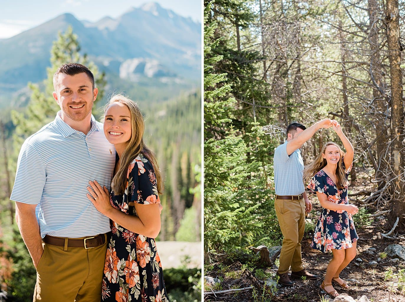 bride and groom destination summer engagement by Lyons wedding photographer Jennie Crate