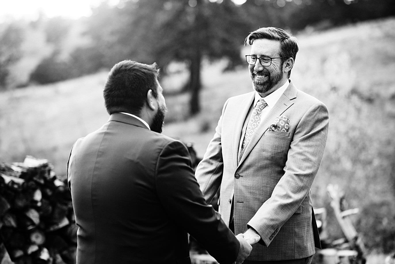 fall LGBTQ engagement in the aspen trees in Golden Gate Canyon by Colorado gay wedding photographer Jennie Crate