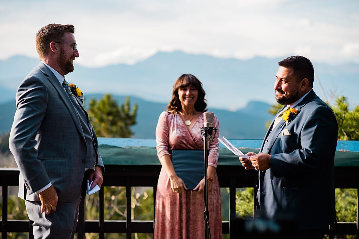 beautiful views at Panorama point during LGBTQ wedding by Colorado LGBT photographer Jennie Crate