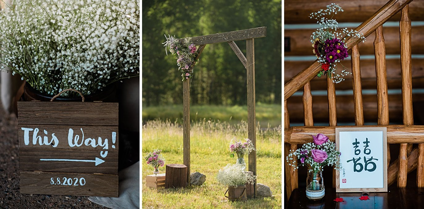 intimate ceremony details at intimate Grand Lake wedding by Denver wedding photographer Jennie Crate