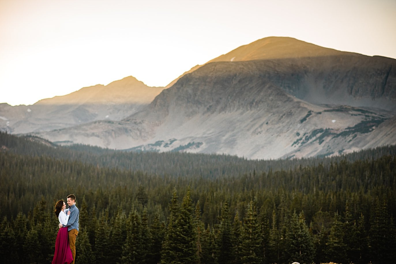 brainard lake engagement session by Boulder wedding photographer Jennie Crate